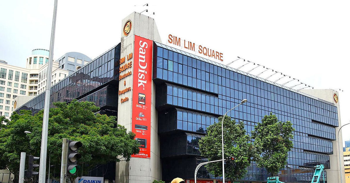 """when users search """"Sim Lim Square"""" on Google"""