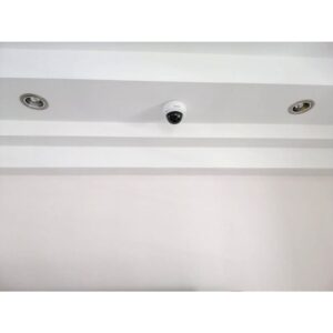 cctv aligned with down light